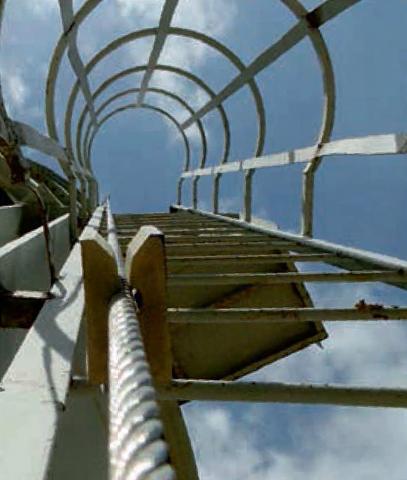 Cable de acero y soporte de linea